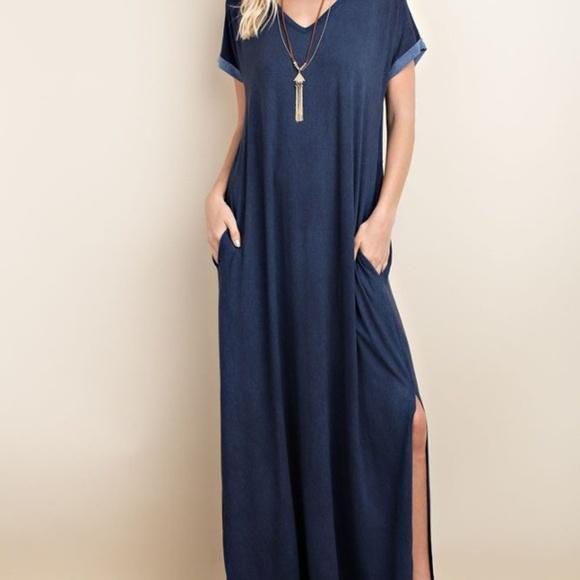 TOV Dresses & Skirts - Blue Jean Colored Dress